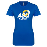 Next Level Ladies SoftStyle Junior Fitted Royal Tee-ASU Alumni