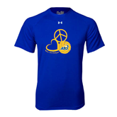 Under Armour Royal Tech Tee-Peace, Love and Volleyball Design