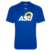 Under Armour Royal Tech Tee-ASU Logo