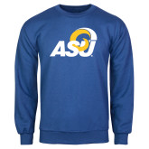 Royal Fleece Crew-ASU Logo
