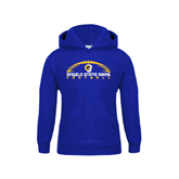 Youth Royal Fleece Hoodie-Arched Football Design