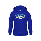 Youth Royal Fleece Hoodie-Baseball Crossed Bats Design