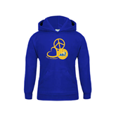 Youth Royal Fleece Hoodie-Peace, Love and Volleyball Design