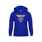 Youth Royal Fleece Hoodie-Basketball Stacked Design