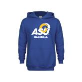 Youth Royal Fleece Hoodie-ASU Baseball
