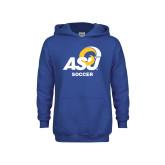 Youth Royal Fleece Hoodie-ASU Soccer