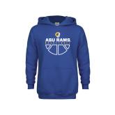 Youth Royal Fleece Hoodie-Rams Basketball