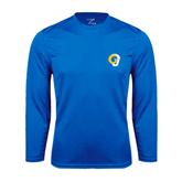 Syntrel Performance Royal Longsleeve Shirt-Official Logo