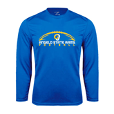 Syntrel Performance Royal Longsleeve Shirt-Arched Football Design