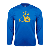 Syntrel Performance Royal Longsleeve Shirt-Peace, Love and Volleyball Design
