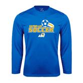 Syntrel Performance Royal Longsleeve Shirt-Soccer Swoosh Design