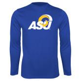 Performance Royal Longsleeve Shirt-ASU Logo