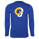 Performance Royal Longsleeve Shirt-Ram Logo