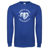 Royal Long Sleeve T Shirt-Angelo State Ram