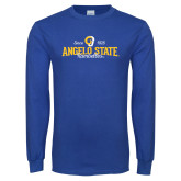 Royal Long Sleeve T Shirt-Angelo State Since 1928