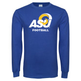 Royal Long Sleeve T Shirt-ASU Football