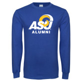Royal Long Sleeve T Shirt-ASU Alumni