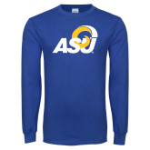 Royal Long Sleeve T Shirt-ASU Logo