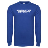 Royal Long Sleeve T Shirt-Angelo State University
