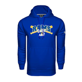 Under Armour Royal Performance Sweats Team Hoodie-Baseball Crossed Bats Design
