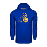 Under Armour Royal Performance Sweats Team Hoodie-Peace, Love and Volleyball Design
