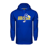 Under Armour Royal Performance Sweats Team Hoodie-Soccer Swoosh Design