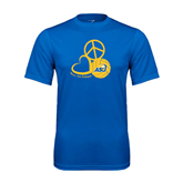 Syntrel Performance Royal Tee-Peace, Love and Volleyball Design