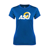 Ladies Syntrel Performance Royal Tee-ASU
