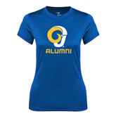 Ladies Syntrel Performance Royal Tee-Alumni