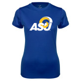 Ladies Syntrel Performance Royal Tee-ASU Logo