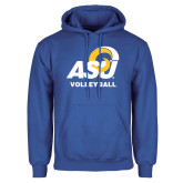 Royal Fleece Hoodie-ASU Volleyball
