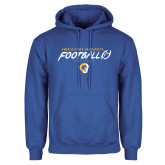 Royal Fleece Hoodie-Rams Football
