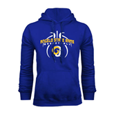 Royal Fleece Hoodie-Basketball in Ball