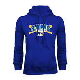 Royal Fleece Hoodie-Baseball Crossed Bats Design