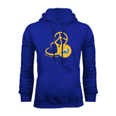 Royal Fleece Hoodie-Peace, Love and Volleyball Design