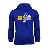 Royal Fleece Hoodie-Soccer Swoosh Design