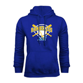 Royal Fleece Hoodie-Softball Bats and Plate Design