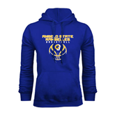 Royal Fleece Hoodie-Basketball Stacked Design