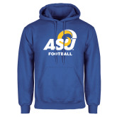 Royal Fleece Hoodie-ASU Football