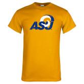 Gold T Shirt-Distressed Logo