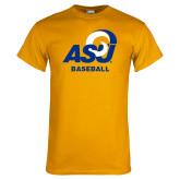 Gold T Shirt-ASU Baseball