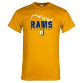 Gold T Shirt-Rams Baseball