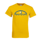 Gold T Shirt-Arched Football Design
