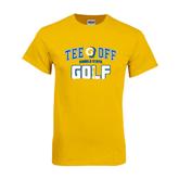 Gold T Shirt-Tee Off Golf Design