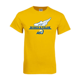 Gold T Shirt-Track and Field Design