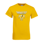 Gold T Shirt-Basketball Stacked Design