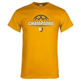 Gold T Shirt-Womens Soccer Champions