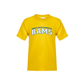 Youth Gold T Shirt-Arched Angelo State University Rams