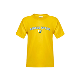 Youth Gold T Shirt-Arched Angelo State w/ Ram
