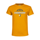 Youth Gold T Shirt-Womens Soccer Champions